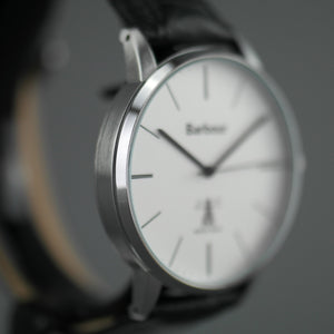 Barbour Hartley wrist watch with white dial and leather strap