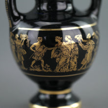 Load image into Gallery viewer, Vintage handmade 24ct Gold plate pottery vase jug Greek Royal blue colour made by St
