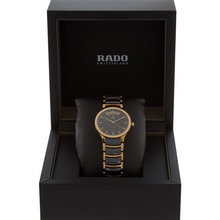 Load image into Gallery viewer, Rado Centrix Automatic Gold plated and Ceramic black wrist watch