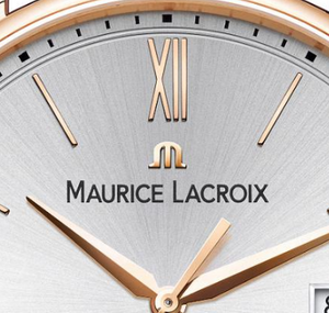 Maurice Lacroix Swiss made Eliros Gent's gold plated wrist watch with Leather Strap