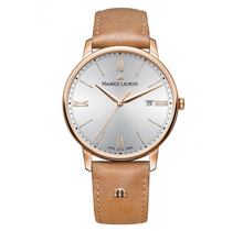 Load image into Gallery viewer, Maurice Lacroix Swiss made Eliros Gent's gold plated wrist watch with Leather Strap
