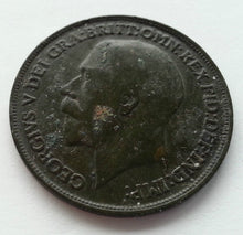 Load image into Gallery viewer, Antique 1939 one penny coin British Empire George VI