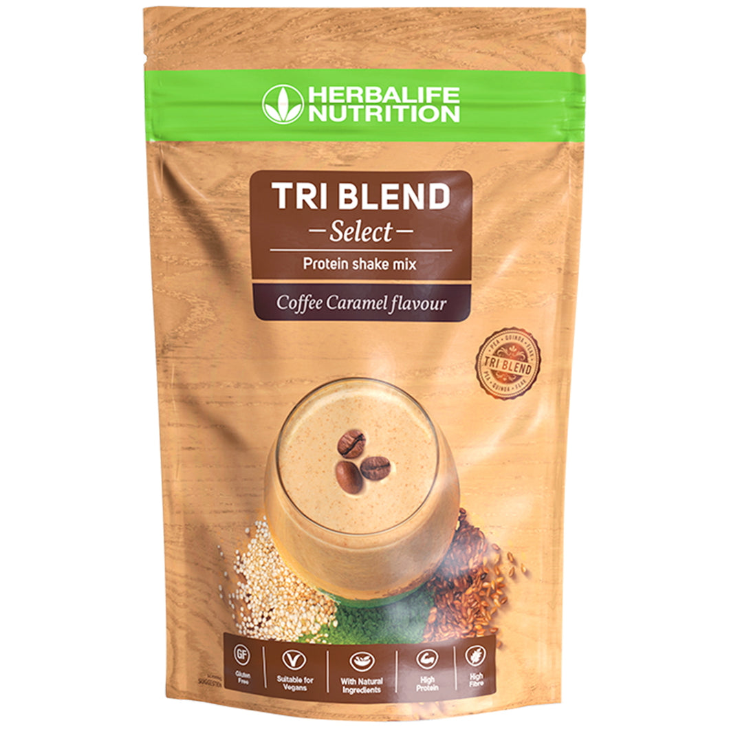 Tri Blend Select Shake Mix Proteic Vegan Coffee Caramel 600g