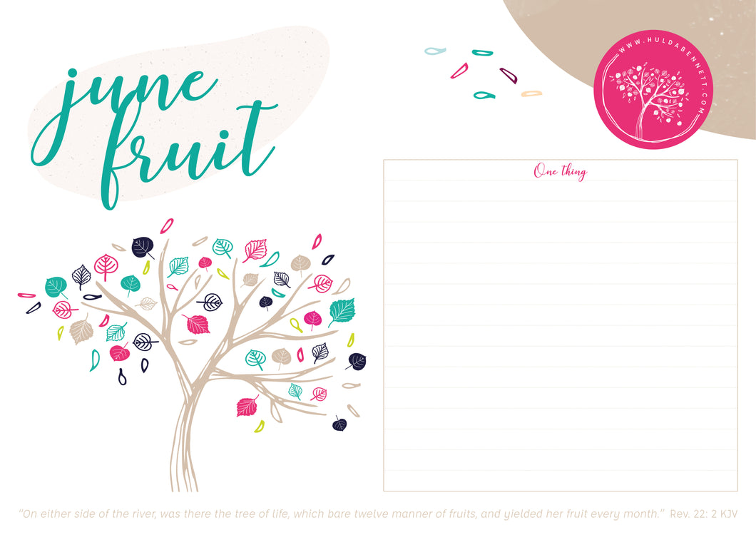 12-Month One Thing Calendar Planning Pages {Digital Download}