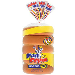 Pan De Hot Dog 10 Pack Pepin