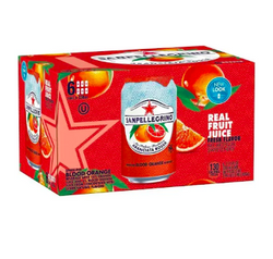 Sanpellegrino Aranciata Rossa Blood Orange 6 Pack