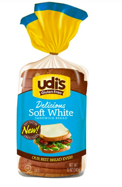 Udis Delicious Soft White Bread Gluten Free