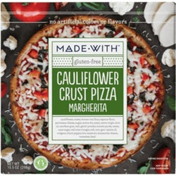 Made with Cauliflower Pizza Margherita