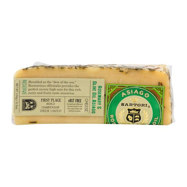 Sartori Asiago Cheese Wedge Rosemary & Olive Oil Asiago