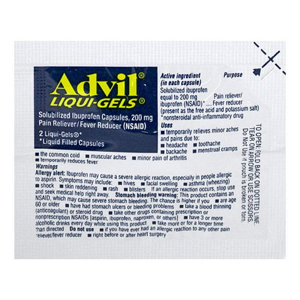Advil Ibuprofen Liqui-Gels - Pack of 2