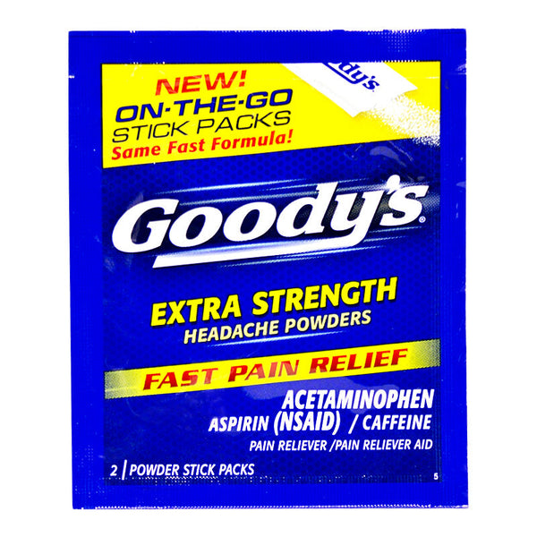Goody Extra Strength Headache Powder Sticks - Pack of 2