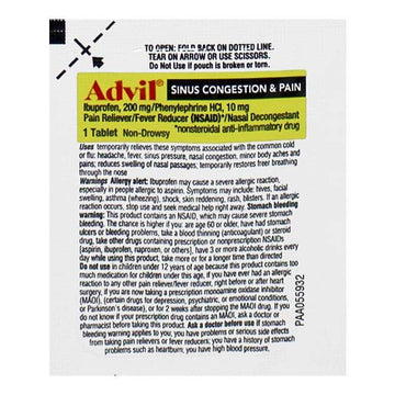 Advil Sinus Congestion & Pain - Pack of 1
