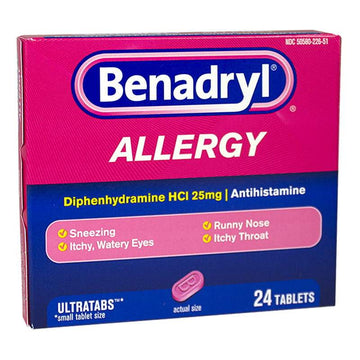Benadryl Allergy Tablets - Box of 24