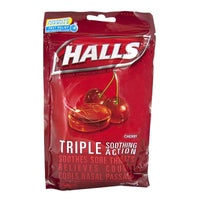 Halls Cough Suppressant Cherry Drops Bag - Bag of 30 Drops