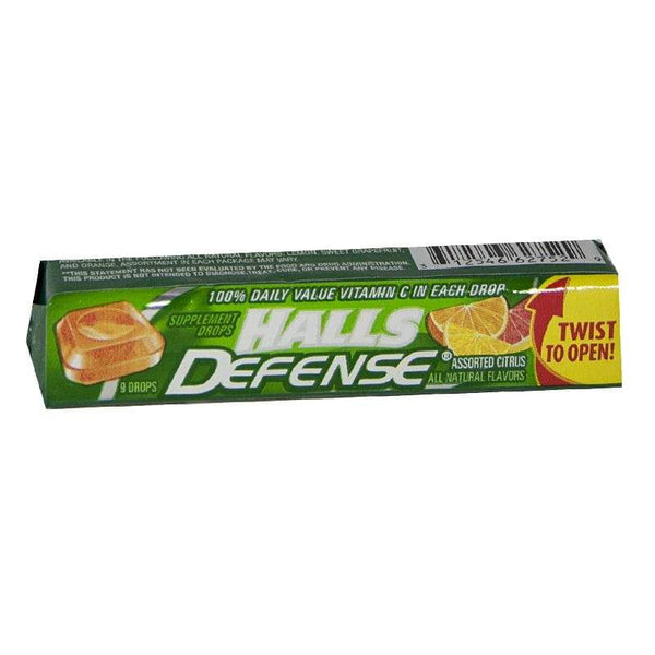 Halls Defense Vitamin C Drops - Stick of 9 Drops