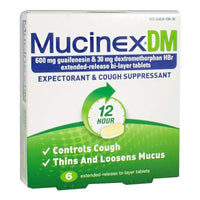 Mucinex DM Expectorant & Cough Suppressant Boxed - Box of 6