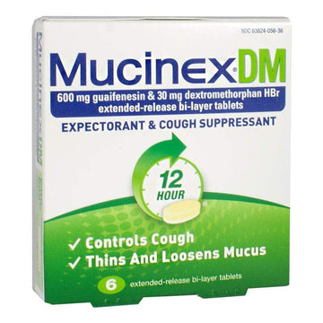 Mucinex DM Expectorant & Cough Suppressant - Box of 6
