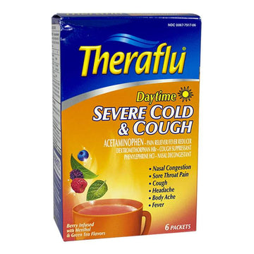 Theraflu Severe Cold & Cough Daytime - Box of 6 Packets