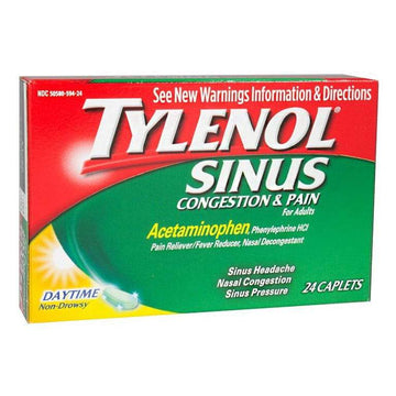 Tylenol Sinus Congestion & Pain - Box of 24