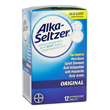 Alka Seltzer Antacid & Pain Relief Box - Box of 12