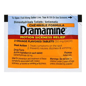 Dramamine Motion Sickness Relief Tablets - Pack of 2
