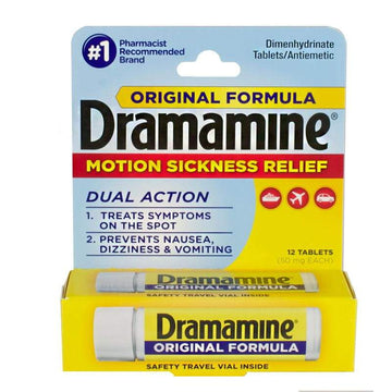 Dramamine Motion Sickness Relief Tablets Vial - Vial of 12