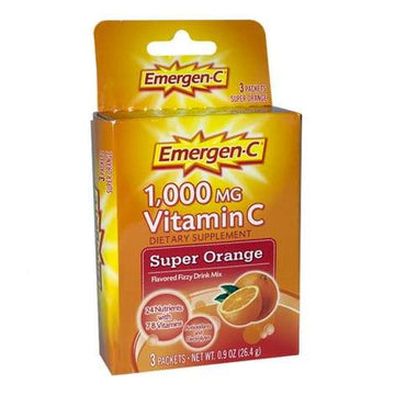 DISCONTINUED - Emergen-C Super Orange Dietary Supplement - Box of 3 Packets