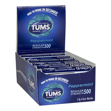 Tums Peppermint Antacid - Roll of 12