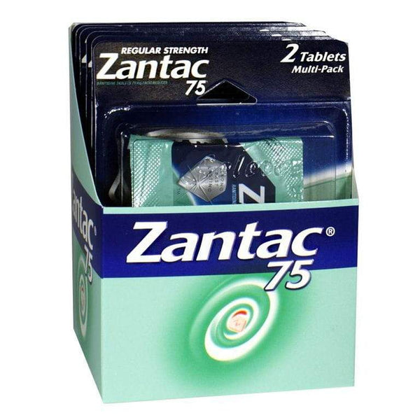 Zantac 75 Acid Reducer Carded - Card of 2