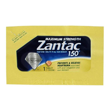 UNAVAILABLE - Zantac 150 Acid Reducer - Pack of 1