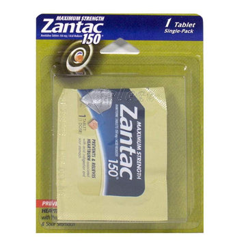 UNAVAILABLE - Zantac 150 Acid Reducer - Card of 1