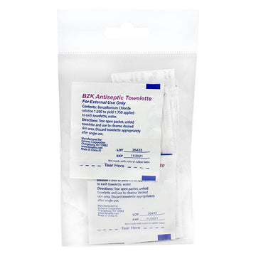 Adhesive Bandages & Antiseptic Towlettes - 8 Piece Kit