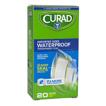 Curad  Assorted Waterproof Bandages - Box of 20