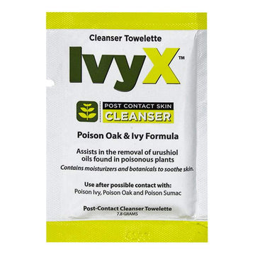IvyX Poison Oak & Ivy Post-Contact Cleanser Towelettes - 7.8 gm.