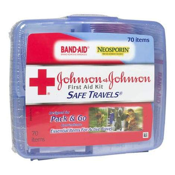 zzDISCONTINUED - Johnson & Johnson Safe Travels First Aid Kit - 70 Piece Kit