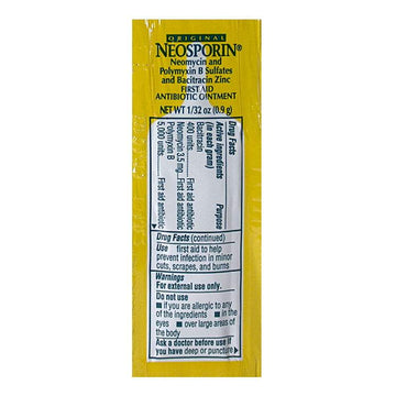 Neosporin Antibiotic Ointment Foil Pack - 0.9 gm. Foil Pack