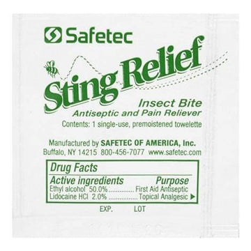 Safetec Insect Bite Sting Relief Wipe