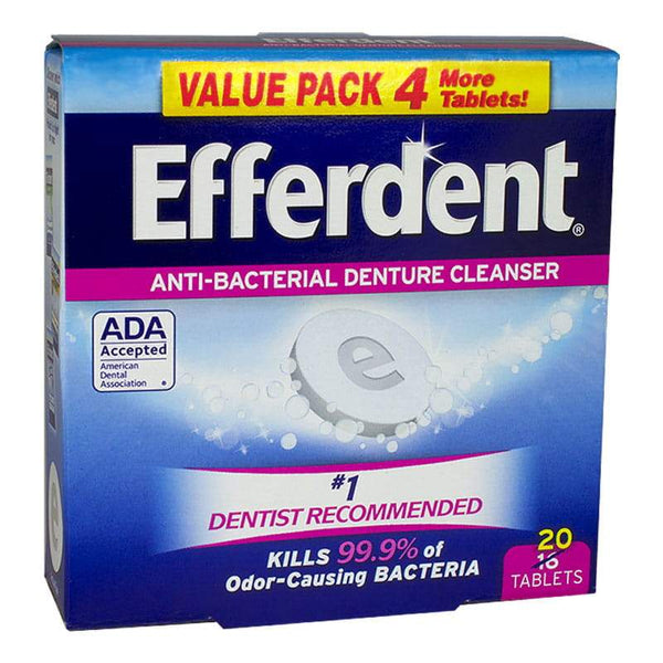 Efferdent Anti-Bacterial Denture Cleanser - Box of 20