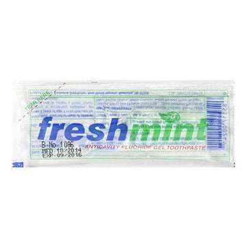 Freshmint Clear Gel Single-Use Toothpaste - 0.28 oz. Packet