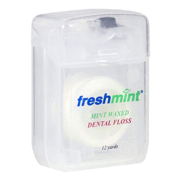 Freshmint Waxed Mint Dental Floss - 12 yds.