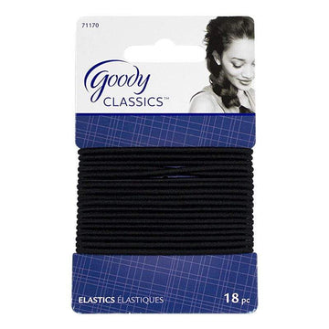 Goody Classic Large Black Elastics - Card of 18