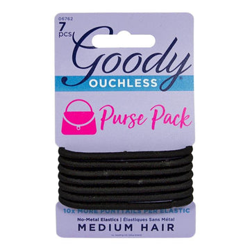 Goody Ouchless Black Ponytails - Card of 7