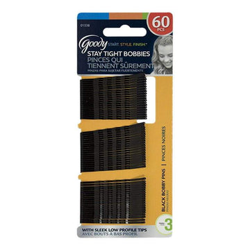Goody Black Bobby Pins - Card of 60