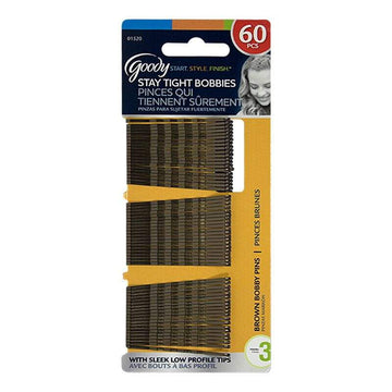 Goody Brown Bobby Pins - Card of 60