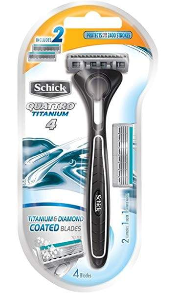 Schick Quattro Titanium Razor - With Extra Cartridge
