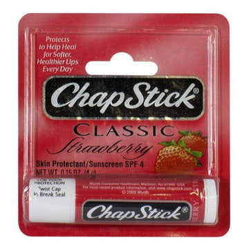 ChapStick Classic Strawberry Lip Balm - 0.15 oz. Stick