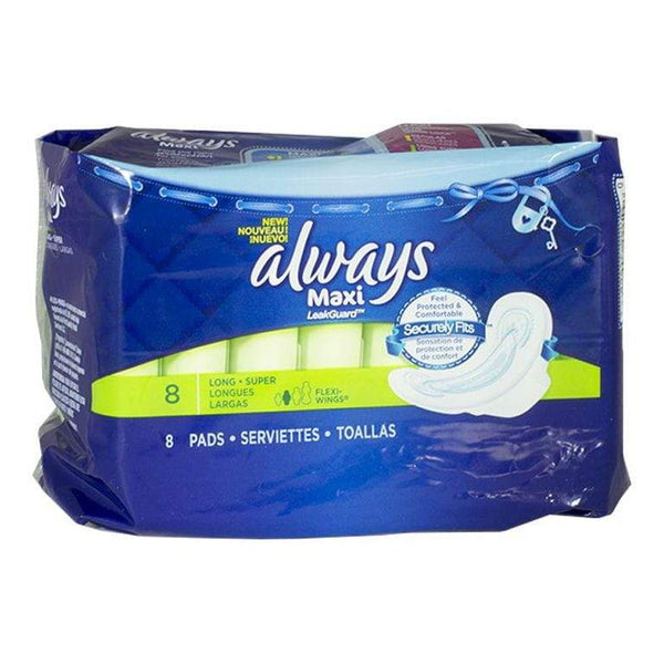 Always Maxi Long Pads with Flexi-Wings - Pack of 8