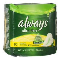 Always Ultra Thin Maxi Pads with Flexi-Wings - Pack of 10