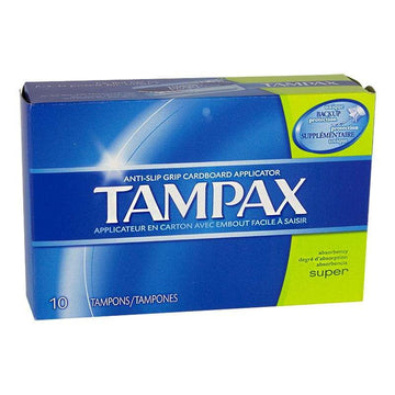 Tampax Super Biodegradable Tampons - Box of 10