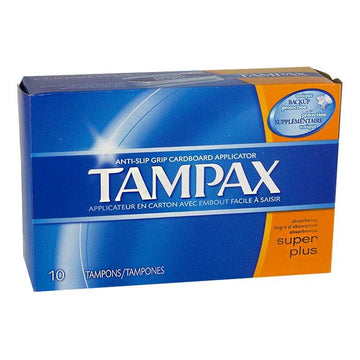 zzDISCONTINUED - Tampax Super Plus Biodegradable Tampons - Box of 10